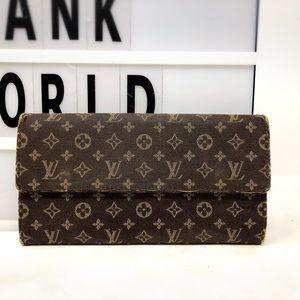 Louis Vuitton Sarah monogram mini lin long wallet